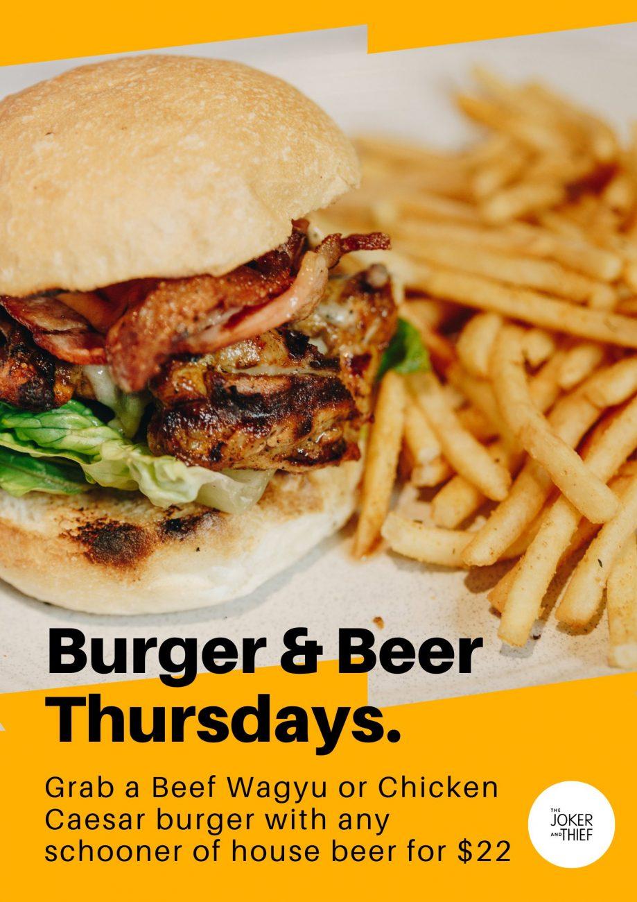 Burger Beer Thursdays The Joker And Thief Terrigal