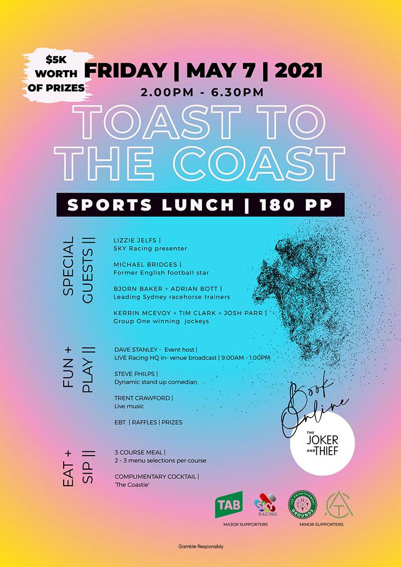 Toast to the Coast, 7th May 2021