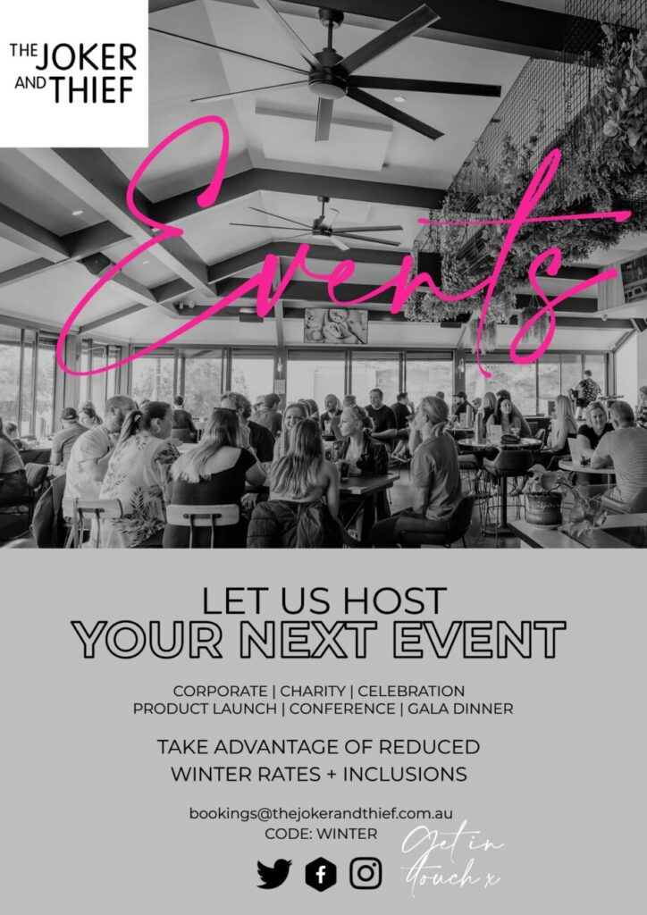Joker and Thief Restaurant Terrigal Let us host your next event